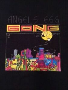 GONG T-SHIRT     AWESOME GRAPHICS     ANGELS EGG     VERY RARE      SIZE XL