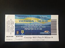 TICKET MATCH FRIENDLY UKRAINE - CZECH REPUBLIC  2012