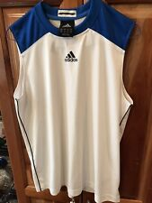 Adidas Youth Sport Sleeveless Blue and White Tank Top Size L