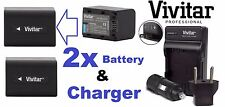 2Pc Super Capacity NP-FV70 Battery & Charger For Sony HDR-TD10 HDR-TD20 HDR-TD30