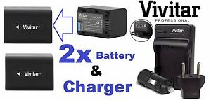 Pro Super Hi 2-Pc NP-FV70 Battery & Dual Charger For Sony HDR-CX455