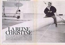 Coupure de presse Clipping 1983 Christine Ockrent  (4 pages)