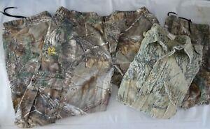 Camo Hunting Cargo Pants by Realtree Sz XL & Long Sleeve Shirt Sz XL Lot 2