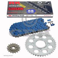 Chain Set Yamaha XJR 1300 99-01 Chain RK BB 530 Gxw 110 Blue Open 17/38