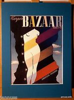 alte Reklame Druck hinter Passepartouts 80er Harpers Bazaar 36x26 cm 882