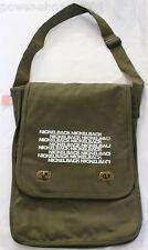 Nickleback Feed The Machine VIP Messenger Bag NEW sling/crossbody tote green NEW