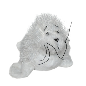 "Ganz Webkinz White Seal Artic Plush Stuffed Animal HM023 No Code 10"""