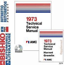 1973 AMC Javelin Ambassador Service Shop Repair Manual CD Engine Drivetrain OEM
