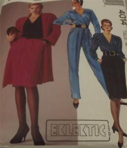 VINTAGE 1986 DRESSMAKING OUTFITS  PATTERN - MCALLS 4014 UNUSED SIZE 10
