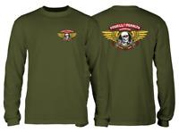 Powell Peralta Skateboards Winged Ripper Military Green Longsleeve T-Shirt