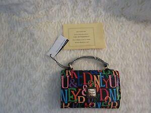Dooney Bourke Small Mini Crossbody Bag Varsity NWT Black Multicolor  fashion