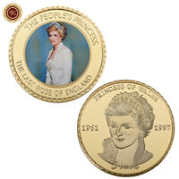 WR Diana Princess Of Wales Commemorative Coin 24k Gold Souvenir Collectible Gift