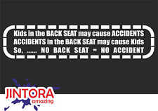 Sticker / Car Decal - kids back seat - 210x46 mm - JDM / Die Cut - OEM White 912