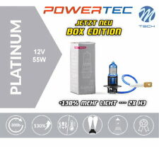 Powertec by M-Tech H3 Platinum +130% mehr Licht Halogen Lampen Neu Box Edition