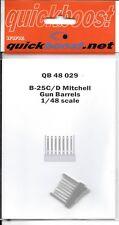 Quickboost B-25C/D Mitchell Pistolen Fässer, Kunstharz Aufrüstungen IN 1/48