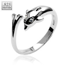 with Cz Toe Ring. [Jewelry] 925 Sterling Silver Dolphin Toering