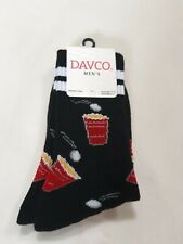 Davco Socks, Beer Pong, red solo cup, 2 white stripes at top, Size 6-12