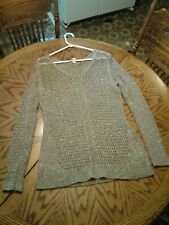 Vintage America brand  gold colored sweater pullover Shirt Women's size large