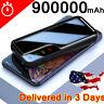 Backup Battery Charger 900000mAh Power Bank Portable External Battery 2USB