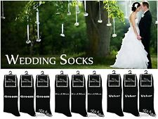 1 Mens & Boys Bride Groom Bestman Cotton Rich Wedding Day Socks / All Sizes
