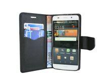 Book-Style Handy Hülle Etui Tasche Zubehör in Schwarz für Huawei Ascend Y6 @COFI