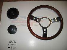"New 13"" Wood Steering Wheel & Hub Adaptor Triumph Spitfire 1977-1980"