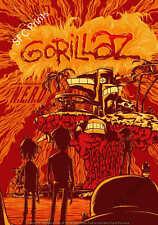 VINTAGE GORILLAZ music tour singer band poster/print A4/A3