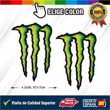 X2 Pegatinas MONSTER STICKER Garra Vinilo impreso Logo Monster colores banderas