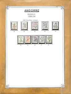 [OP9125] Andorra lot of stamps on 12 pages