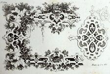 ornement Cadre Décoration Rocaille architecture gravure Riester Clerget