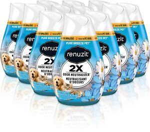 Renuzit Cone Gel Air Freshener Pure Breeze Pets 7 oz (Apple/Jasmine) [6-Pack]