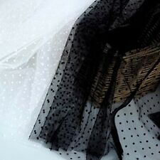 1 Meter Elastic Fabric Tulle Mesh Lace Fabric For Bridal Dress DIY 150cm Width