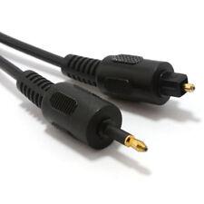1m NOIR Câble audio Fibre optique toslink plug to optique jack 3,5 mm [ 006187 ]