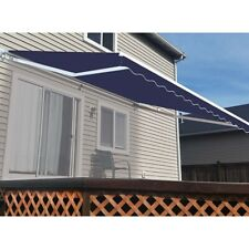 ALEKO Motorized Retractable Patio Awning 20 X 10 Ft Blue Color