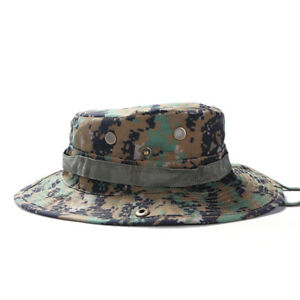 Tactical Camo Army Military Bush Jungle SunHat Outdoor Boonie Hunting Cap L Size