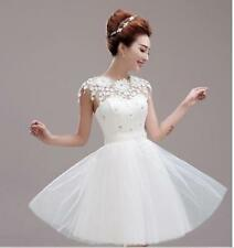 Sexy Womens Floral Evening Formal Ball Gown Prom Bridal Short Mini Dress 4 Color