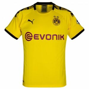Puma Borussia Dortmund BVB Home Jersey Yellow Black DryCell TN18745 Tags $90
