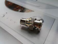 1x BNC Male Plug to RCA Female Jack Adapter Connector Coupler HIFI Audio