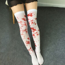 Women Over Knee Socks Blood Stained Bloody Socks Halloween Party Costume Sanwood