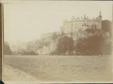 Belgique, Vue d'un château, ca.1905, vintage citrate print Vintage citrate