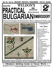 Weldon's 2D #92 c.1892 Vintage Instructions in Bulgarian Embroidery Techniques