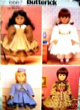 """Reduced!!  Butterick 6667 OOP 18"""" Doll Historical Clothing Pattern"""