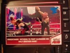 2013 Topps Best of WWE #33 Undertaker Returns to Fight with Kane BLUE Parallel