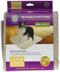 "Pooch Pads Pets Pad (2 Pack), Beige, Large/30"" x 32"""