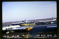 Alitalia KLM BOAC Lufthansa Aircraft at JFK Airport in 1965, Original Slide e20b