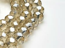 95 Glasschliff facettierte Perlen Rondelle Abakus Spacer klar alt kristall 6*4mm