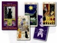 Tarot of Pagan Cats Mini Tarot 78 Full Colour Cards Instructions 44 X 80 Mm Magd