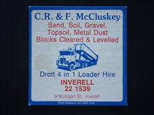 C.R. & F. McCLUSKEY SAND SOIL GRAVEL DROTT 4 IN 1 LOADER INVERELL 221539 COASTER
