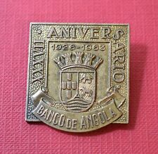 BANK of ANGOLA, Portuguese Colonial, 37th Anniversary-1963, 31x34mm,Badge[#7097]
