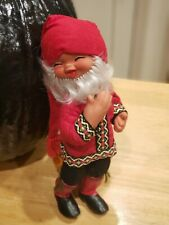"""Vintage Anne Hasle Norge Elf Doll 12"""" Poseable Norwegian Troll Gnome"""
